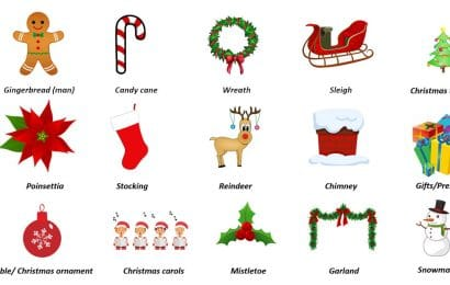 OAK Christmas vocabulary praznicni rijecnik Online Akademija engleski jezik