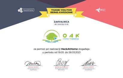 BEST Mostar HackAtHome Online Akademija OAK